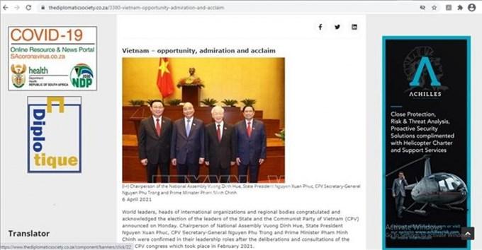 Báo chí nước ngoài đánh giá cao bộ máy lãnh đạo mới của Việt Nam