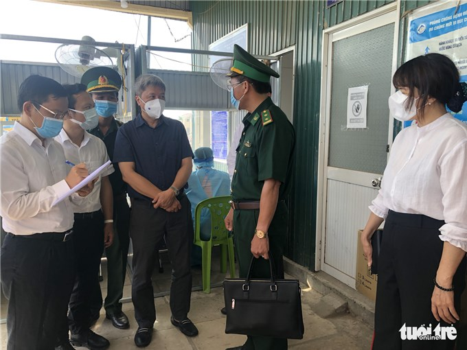 Kiểm tra phòng chống dịch ở An Giang, giáp biên giới Campuchia