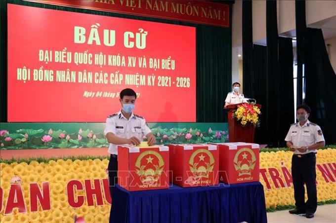 Bà Rịa-Vũng Tàu tổ chức bầu cử sớm cho cán bộ, chiến sĩ