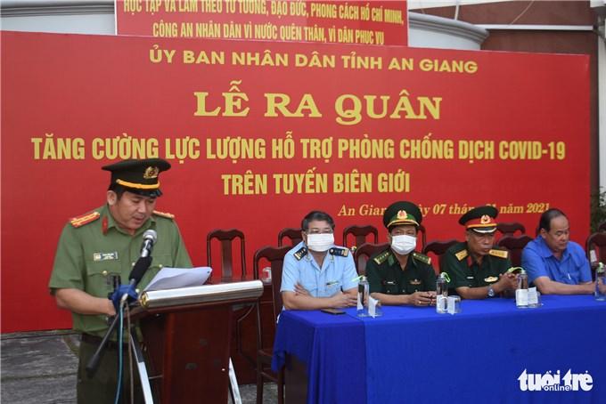 40 chiến sĩ công an An Giang viết đơn tình nguyện tham gia chống dịch COVID-19