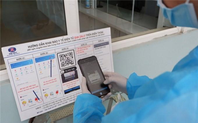 Đẩy mạnh khai báo y tế điện tử bằng mã QR Code