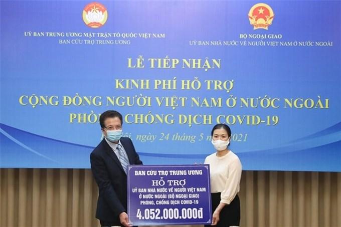 Hỗ trợ 4 tỉ cho cộng đồng người Việt Nam ở nước ngoài phòng, chống dịch