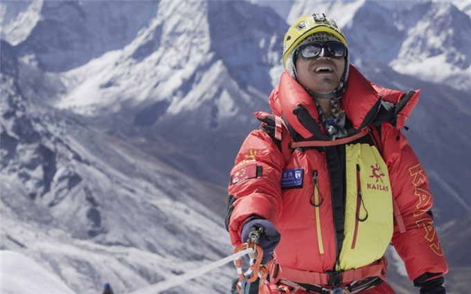 The first Asian blind person to conquer the Roof of the World