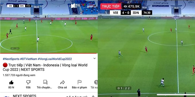 Trận Việt Nam hạ Indonesia lập kỷ lục người xem trên Internet