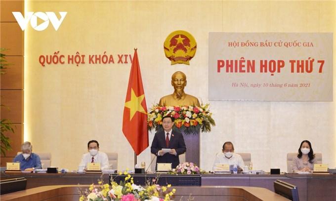 Hội đồng Bầu cử Quốc gia thông qua Nghị quyết công bố kết quả bầu cử