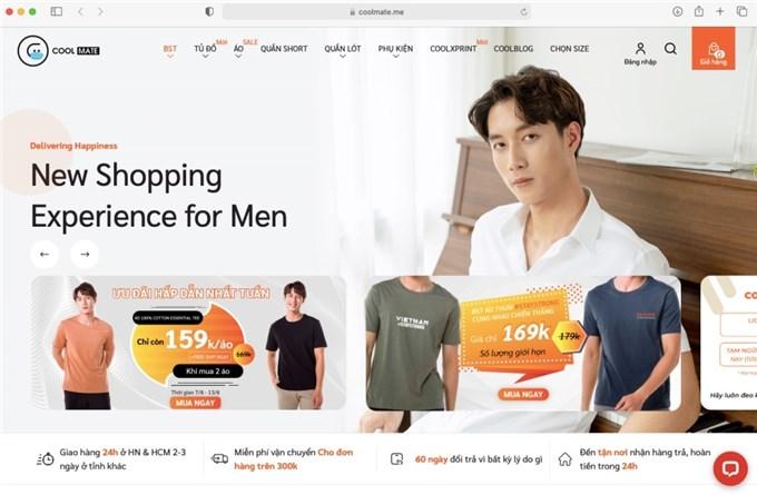 Startup bán thời trang nam giới trực truyến Coolmate được định giá 5 triệu USD