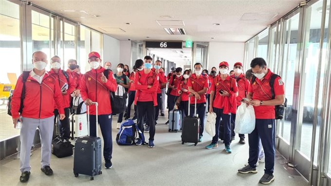 Đoàn thể thao Việt Nam đến Nhật Bản, sẵn sàng cho Olympic Tokyo