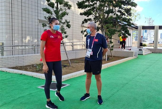 Vận động viên Việt Nam hăng say luyện công ở Olympic Tokyo