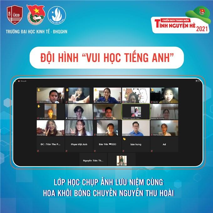 Giờ học tiếng Anh đặc biệt của các em thiếu nhi cùng Hoa khôi bóng chuyền Nguyễn Thu Hoài