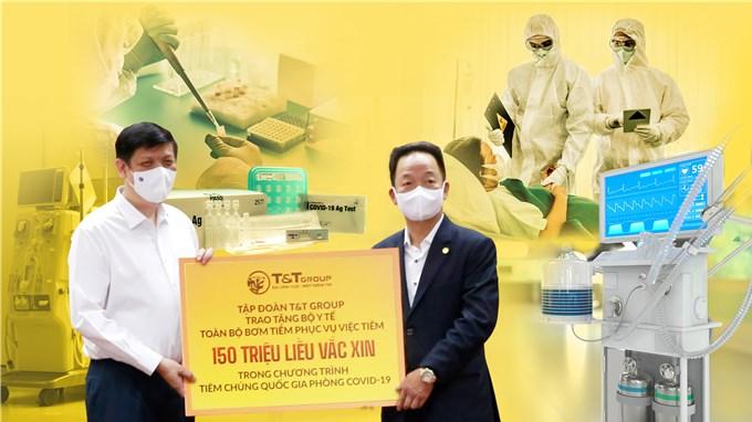 T&T Group tiếp tục tài trợ 20 tỷ đồng mua trang thiết bị y tế cho công tác phòng, chống dịch COVID-19