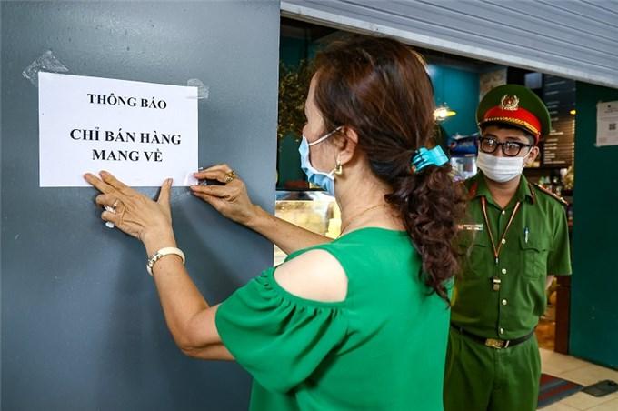 18 quận, huyện của Hà Nội được mở hàng bán mang về từ 12 giờ ngày 16/9