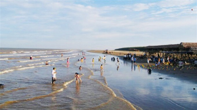 Cồn Đen xã Thái Đô huyện Thái Thụy tỉnh Thái Bình cồn biển đẹp nhất khu vực miền Bắc.