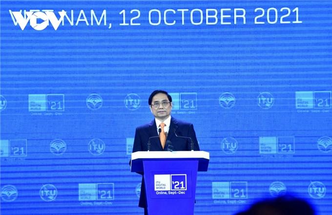 Thủ tướng Phạm Minh Chính phát biểu khai mạc Triển lãm Thế giới số 2021