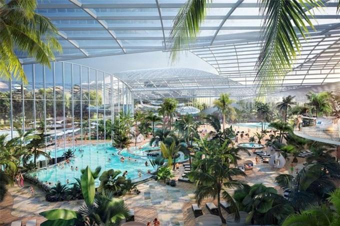 Công viên nước lớn nhất tại Anh sắp mở cửa với 25 hồ bơi