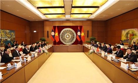 Quan hệ hợp tác giữa Quốc hội Việt Nam-Lào ngày càng gắn bó chặt chẽ