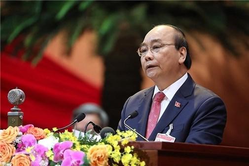 Thủ tướng Nguyễn Xuân Phúc phát biểu khai mạc Đại hội lần thứ XIII của Đảng