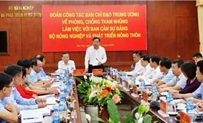Bộ Nông nghiệp và Phát triển nông thôn: Quán triệt chủ trương, chính sách, pháp luật về phòng, chống tham nhũng