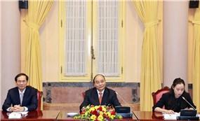 Chủ tịch nước Nguyễn Xuân Phúc tiếp Đại sứ các nước ASEAN