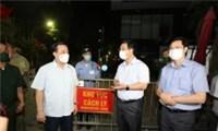 Phó Chủ tịch TP Hà Nội Chử Xuân Dũng khẩn cấp kiểm tra, chỉ đạo ngăn dịch Covid-19 ở Hoàng Mai