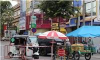 Triển khai - chợ di động - trong khu vực phong tỏa tại Campuchia