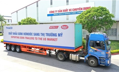 THACO promotes export of semi-trailers to US