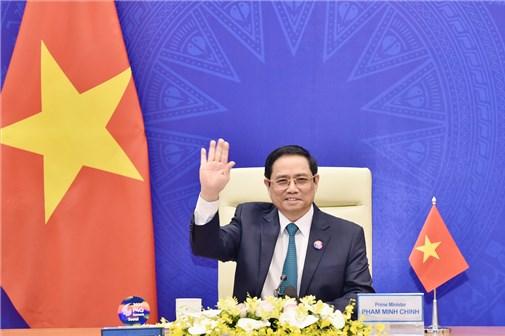 越南政府总理范明正出席全球绿色目标伙伴2030峰会