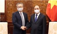 Chủ tịch nước Nguyễn Xuân Phúc tiếp đại sứ Nhật Bản