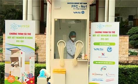 Đã có bốt lấy mẫu xét nghiệm Covid-19 di động Made in Vietnam