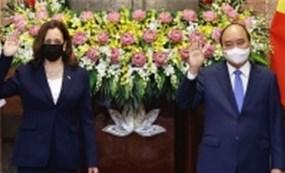 Chủ tịch nước, Phó chủ tịch nước tiếp Phó tổng thống Mỹ Kamala Harris