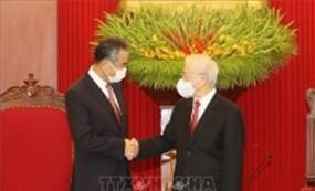 Tổng Bí thư Nguyễn Phú Trọng tiếp Bộ trưởng Ngoại giao Trung Quốc