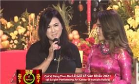 Ca sĩ Phương Loan thay cố nghệ sĩ Chí Tài trong ngày Giỗ Tổ sân khấu ở Mỹ