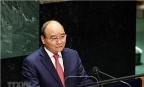 Chủ tịch nước Nguyễn Xuân Phúc phát biểu tại Đại hội đồng Liên Hợp Quốc