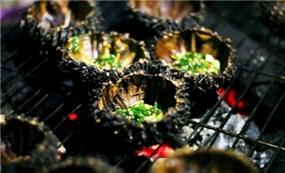 Nhum nướng mỡ hành - đặc sản của biển Nam Du