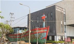 Tàu cá từng bị tàu Trung Quốc gây hấn về Nhà trưng bày Hoàng Sa