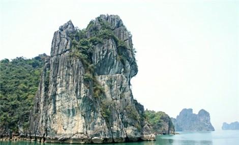 Karst out in Bai Tu Long Bay, Vietnam