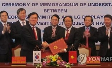 S. Korean electronics firms rush to open plants in Vietnam