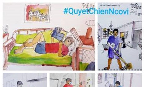 Sketch painting challenge raises public awareness on Covid-19