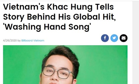 US magazine runs feature on composer Khac Hung and his global hit