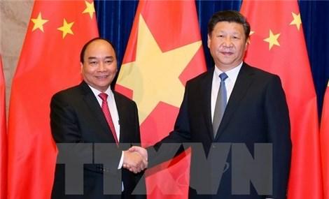 中国媒体密集报道越南政府总理阮春福访华之旅