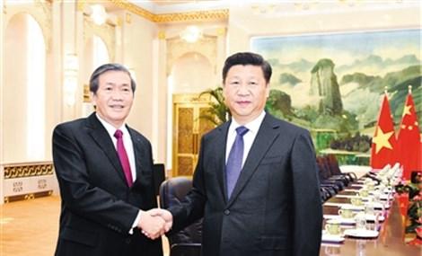 习近平会见越共中央政治局委员、中央书记处常务书记丁世兄