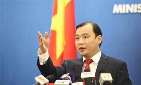 越南外交部发言人黎海平越方反对一切侵犯越南主权的行为