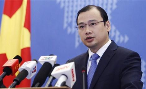 越南对中国接近完成在东海人工岛礁新建的20多处设施的信息作出回应