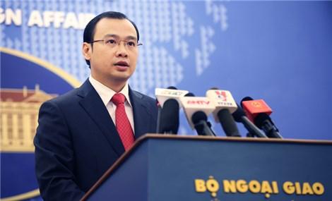 越南外交部发言人黎海平要求中国尊重越南主权和国际法