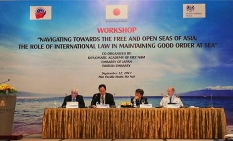 """""""面向亚洲自由开放海域国际法在维持海上秩序的作用""""研讨会在河内举行"""