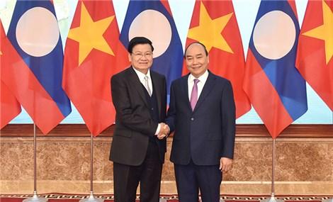 Lãnh đạo Đảng, Nhà nước và Quốc hội tiếp Thủ tướng Lào