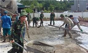 Bộ đội Biên phòng tham gia phát triển kinh tế - xã hội khu vực biên giới.