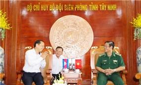 Bộ đội Biên phòng Tây Ninh tiếp đón Đại sứ Vương quốc Campuchia