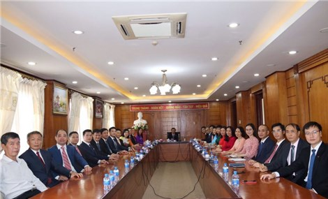 A special meeting of teacher's party cell in Vientiane, Laos