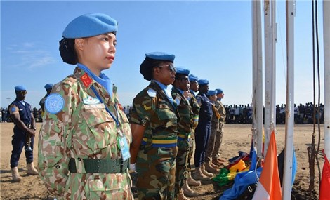 The pride of blue-beret female officers in UN peacekeeping force