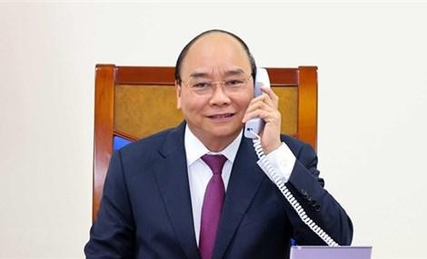 越南政府总理阮春福与澳大利亚总理斯科特·莫里森通电话